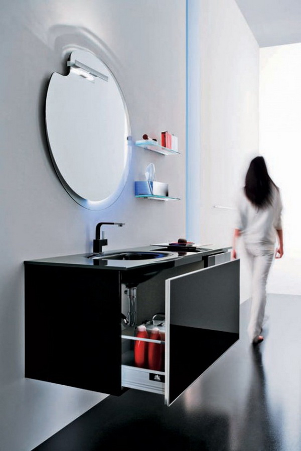 black-bathroom-cabinets