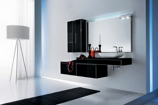modern bathroom furniture set
