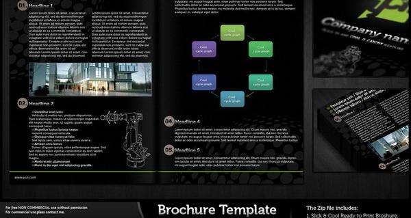 brochure design, brochure template psd file