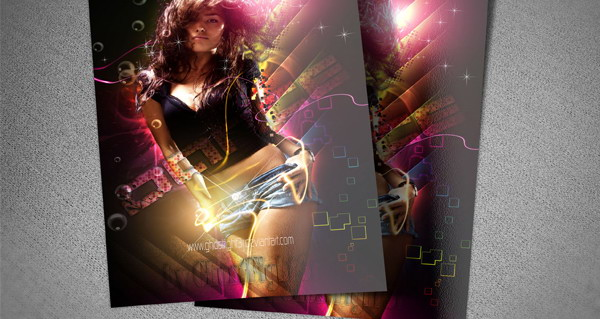 dance flyer psd template