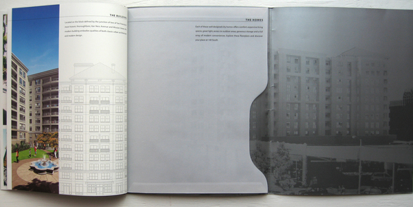 die cut real estate brochure