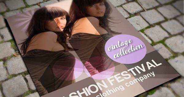 brochure design, fashion brochures template psd file
