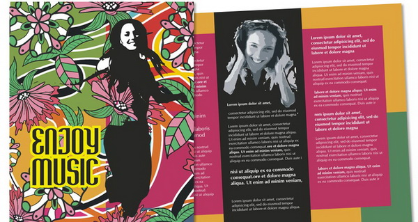 free music brochure template coreldraw