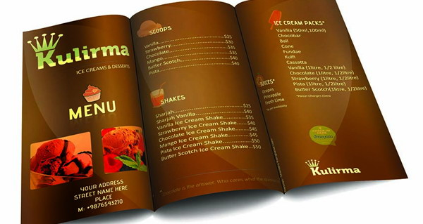 restaurant menu brochure template