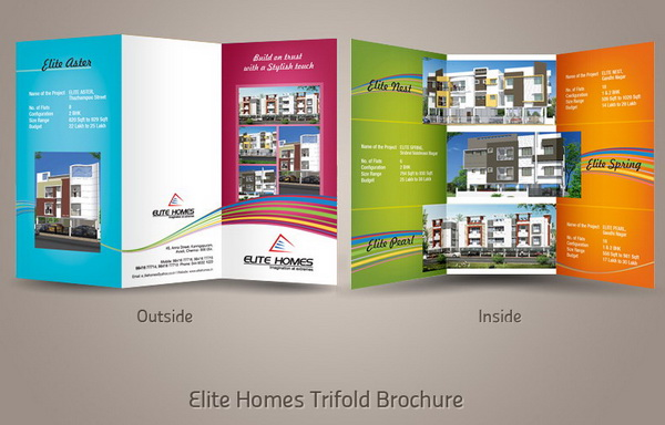 trifold real estate brochure