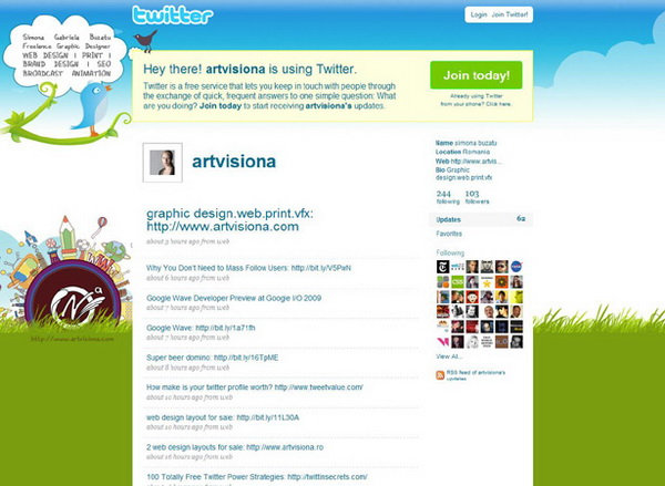 twitter layout, twitter layouts art visiona