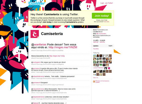 twitter layouts, twitter layouts camiseteria