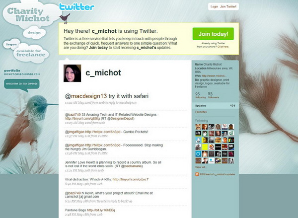 layouts for twitter, twitter layouts charity michot