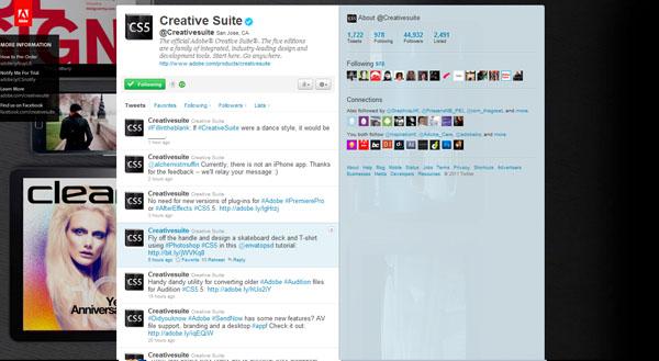 twitter design, twitter layouts creative suite
