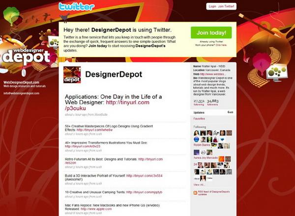 twitter layouts, twitter layouts designer depot
