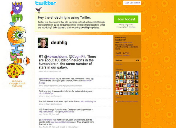 twitter design, twitter layouts deuhlig
