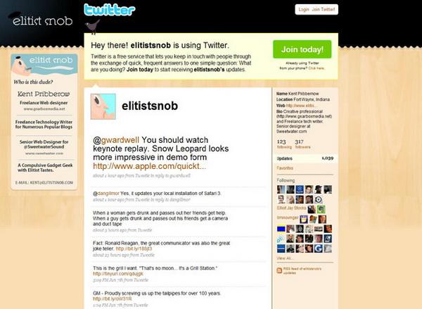 twitter design, twitter layouts elitists snob