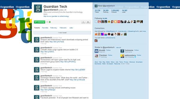 twitter design, twitter layouts guardian tech
