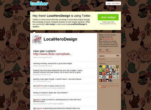 twitter layouts, twitter layouts local hero design