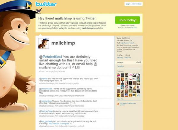 twitter layouts, twitter layouts mail chimp