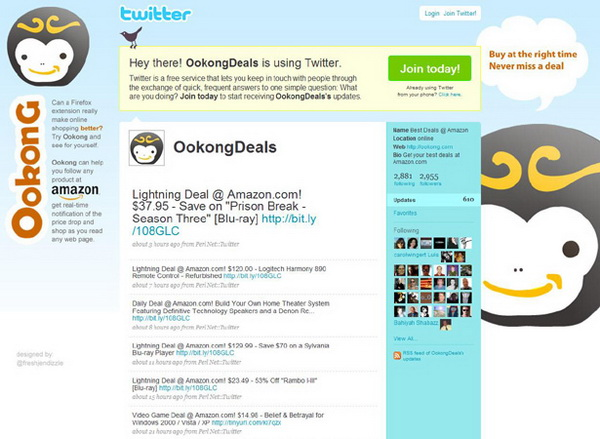 twitter backgrounds, twitter layouts ookongdeals