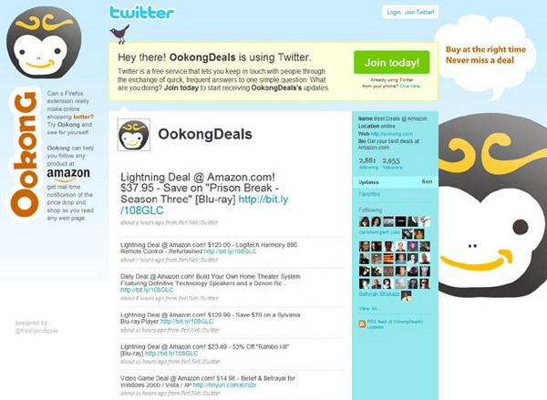 twitter backgrounds, twitter layouts ookongdeals