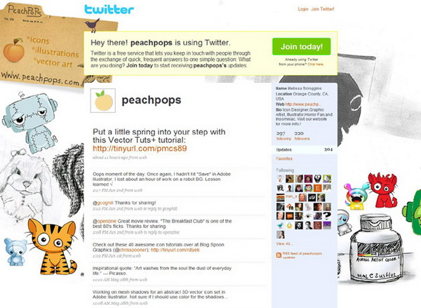 layout for twitter, twitter layouts peach pops