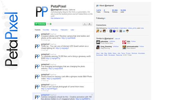 twitter design, twitter layouts peta pixel