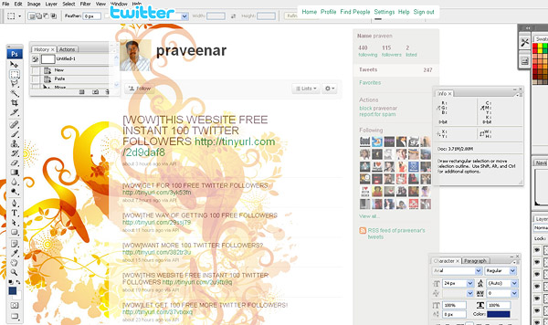 layouts for twitter, twitter layouts praveenar