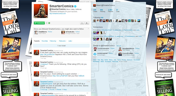 twitter design, twitter layouts smarter comics