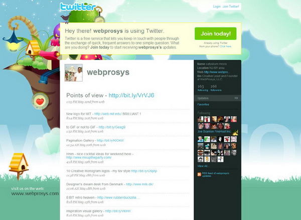 layouts for twitter, twitter layouts webprosys