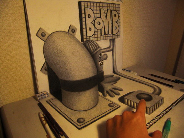 3d-drawing-bomb