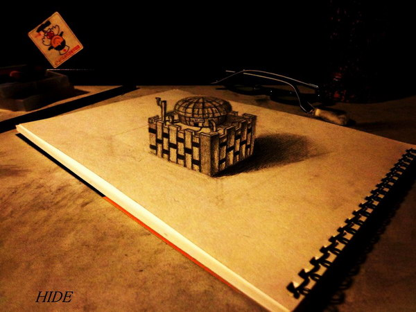 3d-pencil-drawings-of-house