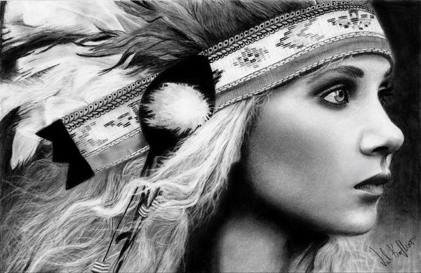 native-american-girl-pencil-drawing