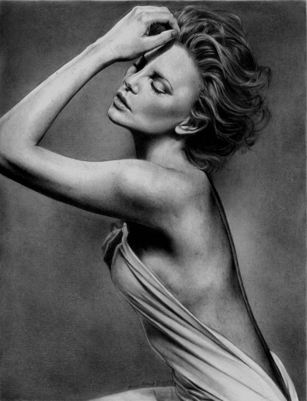 pencil-drawing-charlize-theron