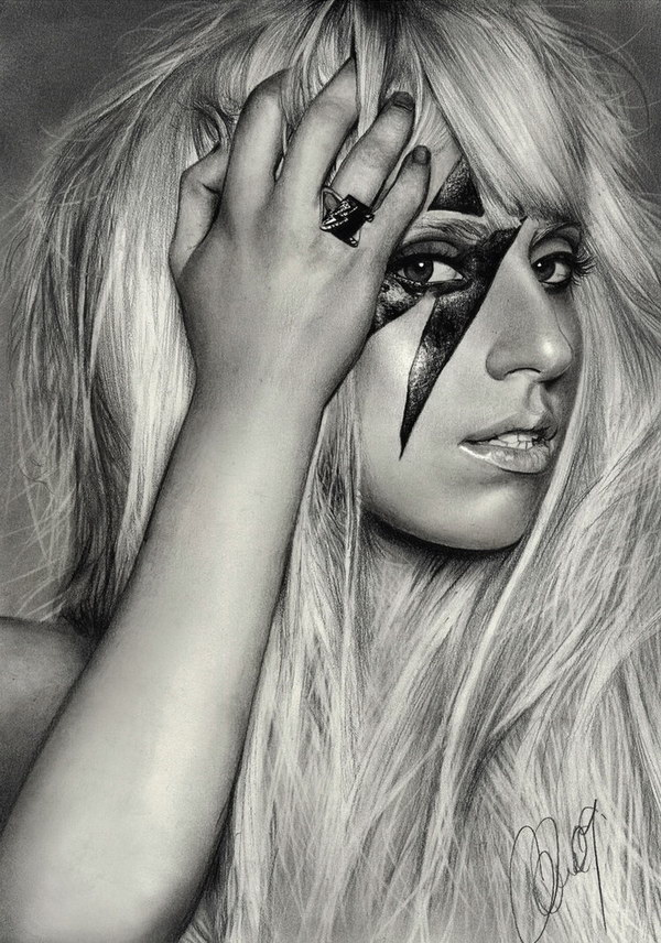 pencil-drawing-lady-gaga