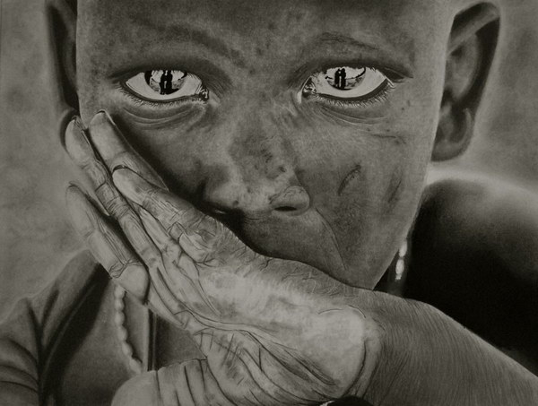 pencil-drawing-maasai-boy