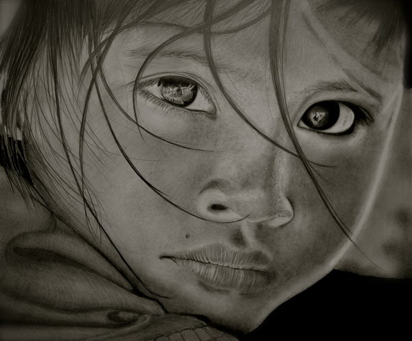 pencil-drawing-sad-girl