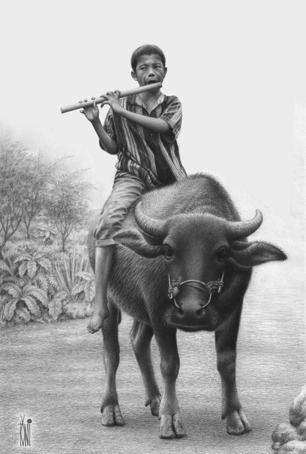 pencil-drawings-of-cowboy