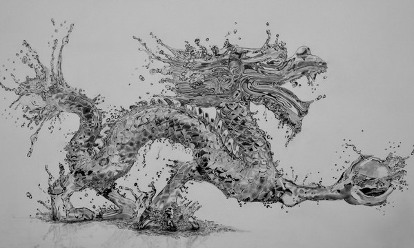 pencil-drawings-of-water-dragon