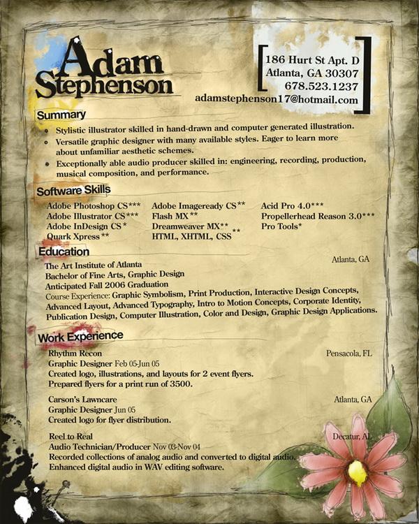 creative resume 19