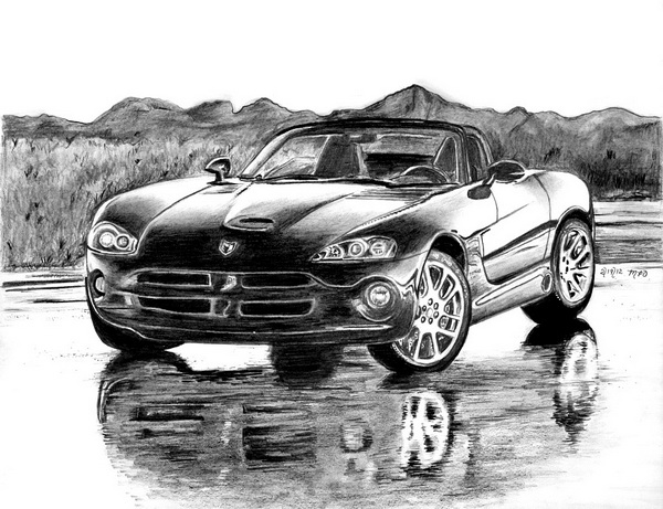 car drawing 10
