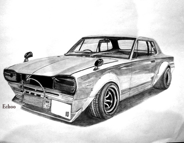 car drawing 9