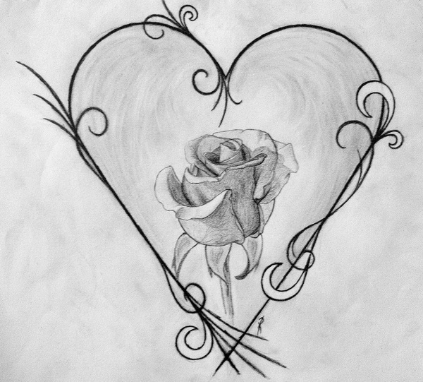 10 Cool Heart Drawings For Inspiration 2017