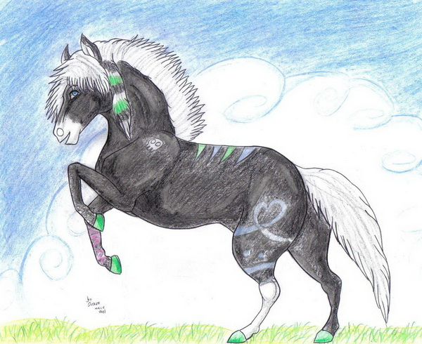 horse drawing 3