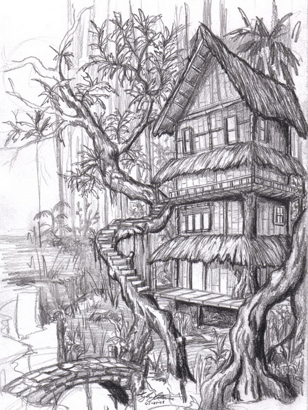 house drawing 7