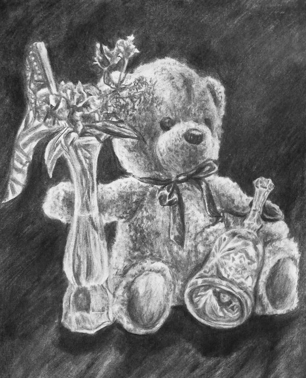 teddy bear drawing 10