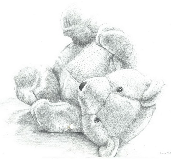 teddy bear drawing 2