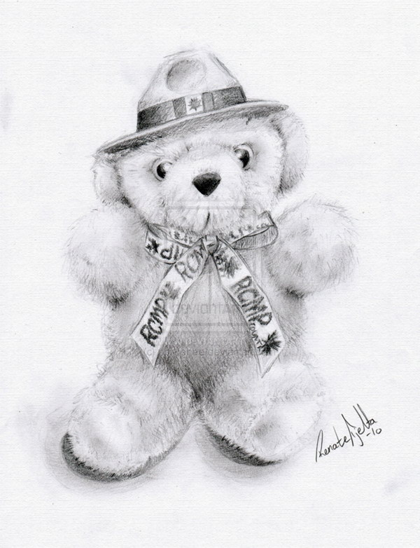 teddy bear drawing 3