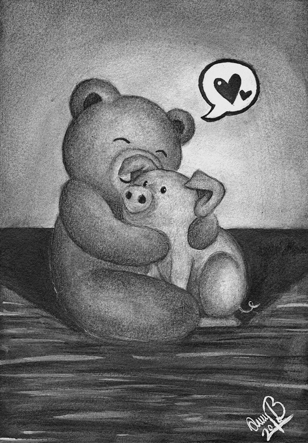 teddy bear drawing 5