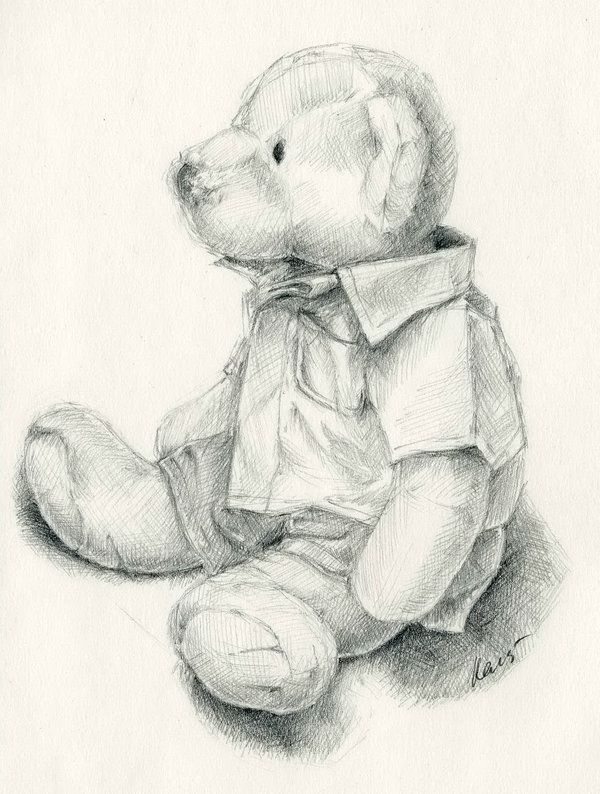 teddy bear drawing 7