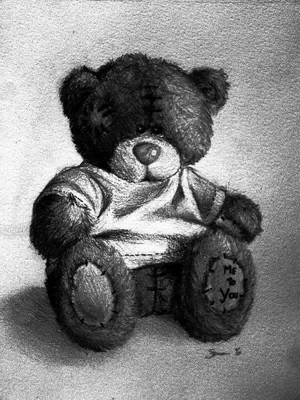 teddy bear drawing 9