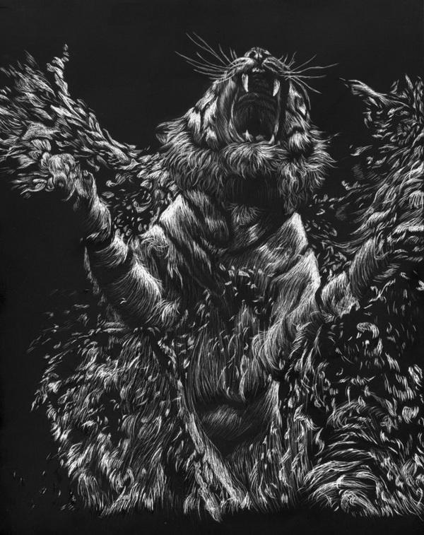 tiger drawing 4