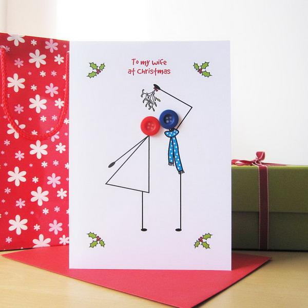 button christmas card 46