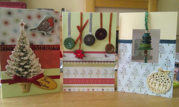 button christmas card 50